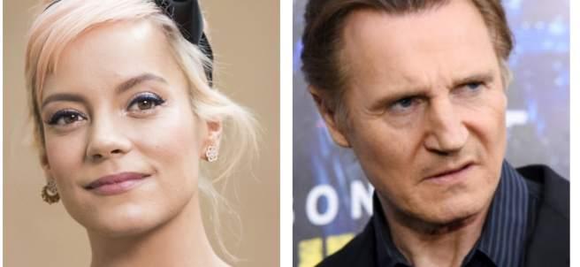 Lily Allen y Liam Neeson
