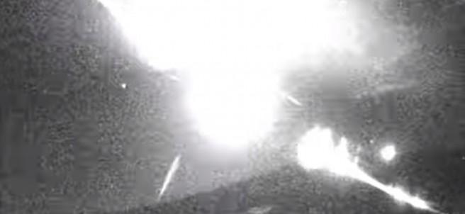 Roca impacta en la atmósfera y genera bola de fuego