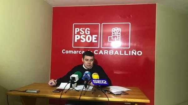 Adolfo Nogueira ofrece una rueda de prensa tras ser cesado como portavoz del PSO