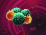 Representación artística de células tumorales circulantes