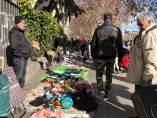 Mercadillo ilegal de los viernes en Atocha.