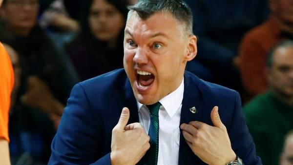 El entrenador del Zalgiris Kaunas, Sarunas Jasikevicius