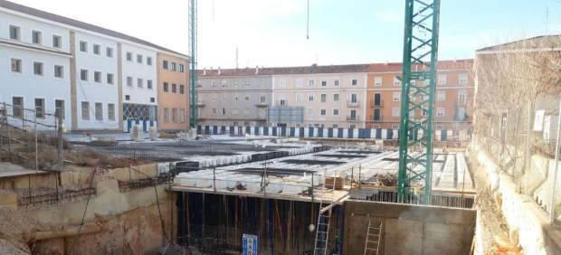 Obras del parking Astrana Marín en Cuenca