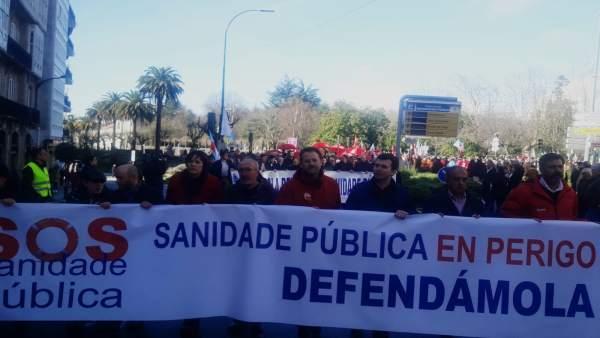 Manifestación sanidad Santiago de Compostela