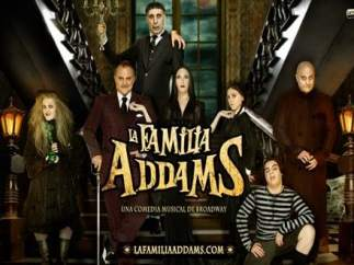 Cartel del musical 'La familia Adams'