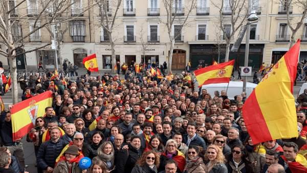 Murcianos en la manifestación de Madrid