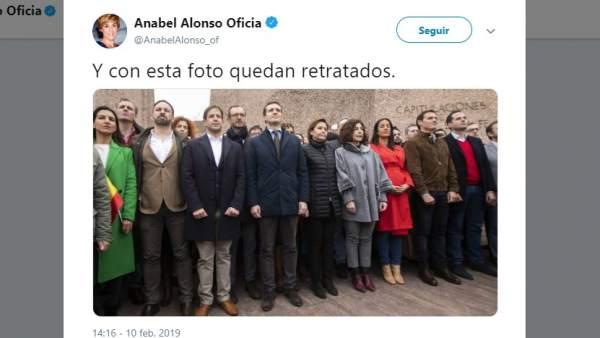 Tuit de Anabel Alonso