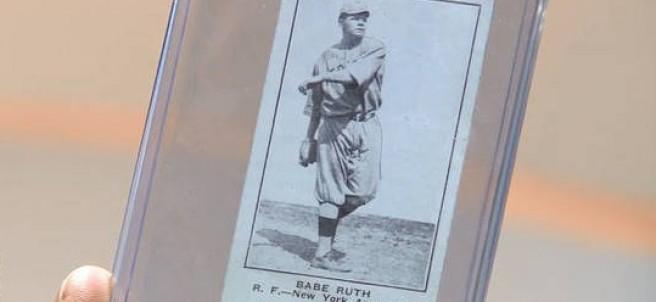 Cromo del jugador de béisbol Babe Ruth