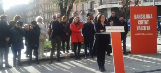 Rueda de prensa de Ada Colau con los miembros de su lista para las municipales de Barcelona.