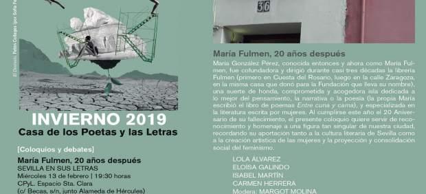 Programa coloquio 'María Fulmen. 20 años después'