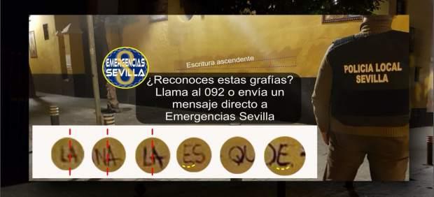 Emergencias Sevilla pide colaboración para identificar autores de pintadas en la