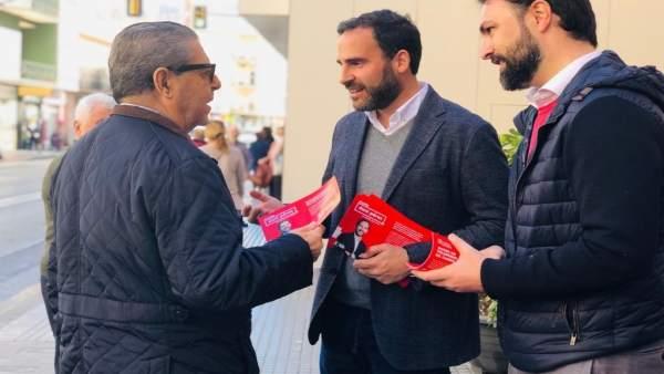 Daniel Pérez, candidato del PSOE municipal y portavoz en el Ayuntamiento de Mála