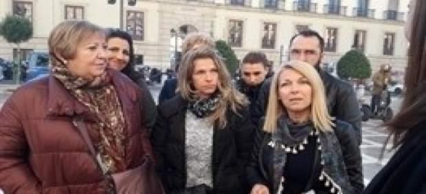 Familiares de Sara Correa el día de la vista de apelación en el TSJA