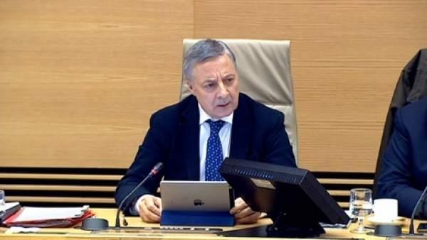 El exministro de Fomento, José Blanco, en una comparecencia.