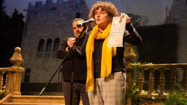 Goretti Sanmartín en gala devolución Pazo Meirás