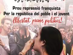 Cartel de la huelga de estudiantes convocada por el Sindicat d'Estudiants.