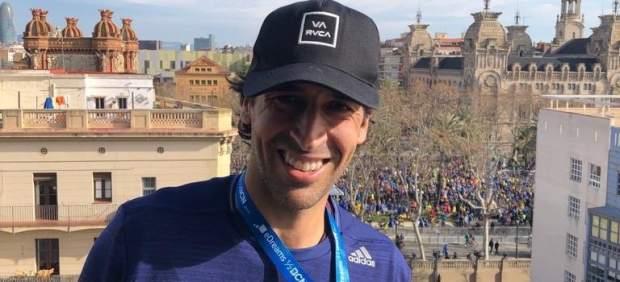 Raúl, tras participar en la media maratón de Barcelona