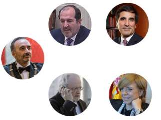 Los magistrados del juicio del procés.