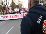 Manifestación de los taxistas madrileños