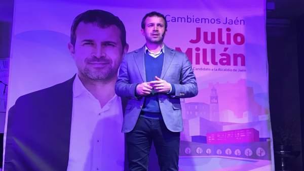 Julio Millán (PSOE) presenta su campaña 'Cambiemos Jaén'