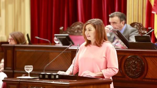 Francina Armengol en el debate del estado de la comunidad