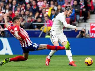 Gareth Bale, contra el Atlético de Madrid.