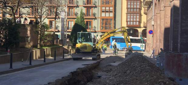 Obras calle Ancha Torrelavega