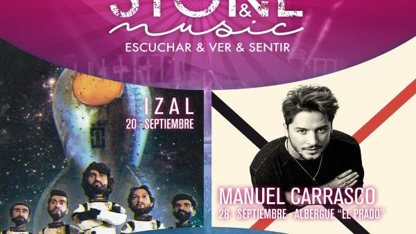 Carte de las actuaciones de Izal y de Manuel Carrasco en el Stone&Music de Mérid