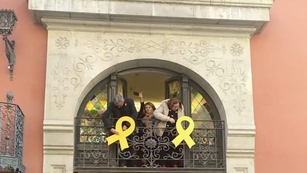 La presidenta de la Diputación de Lleida, Rosa Maria Perelló, junto a la vicepre