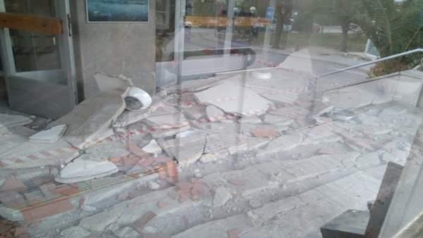Derrumbe del techo del Hospital Neurotraumatológico