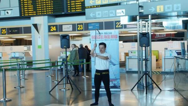 Eros presenta su proyecto en la terminal aeroportuaria
