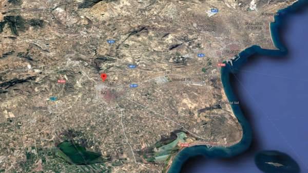 Localización de Elche (Alicante)