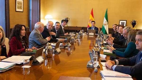 Reunión semanal del Consejo de Gobierno de la Junta de Andalucía.