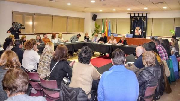 Mesa de Comercio en Fuengirola con la alcaldesa, Ana Mula