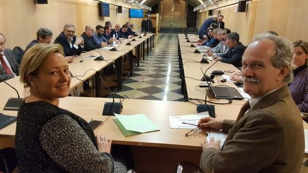 Gastón en la VIII sesión del Pleno del Consejo de Industria de Aragón