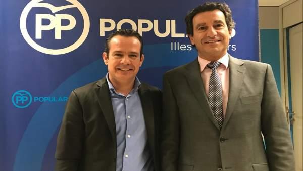 El presidente del PP en Baleares, Biel Company, y secretario general del PP en l