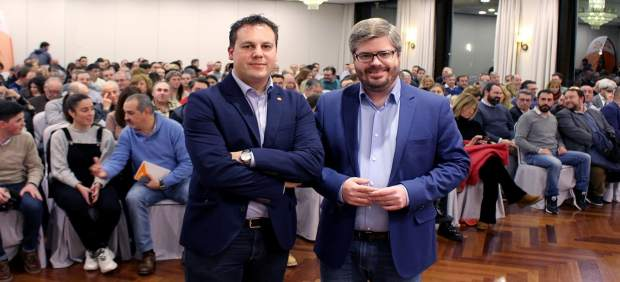 Esteban Martínez y Fran Hervías, secretarios de Organización de Cs Cantabria y a