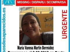 Vanesa Martín, desaparecida en Ceuta el 6 de febrero de 2019.