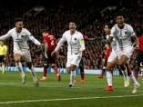 El PSG celebra un gol ante el United