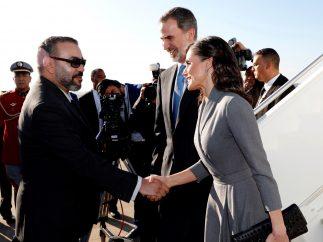 El recibimiento de los reyes en Marruecos