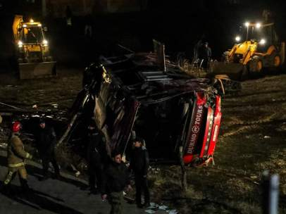 Accidente de autobús en Macedonia del Norte