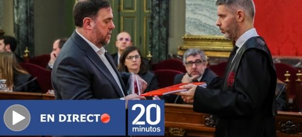 Oriol Junqueras y su abogado