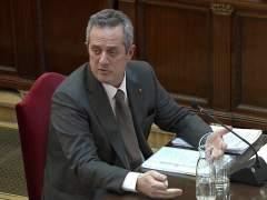 Joaquim Forn, durante su declaración.