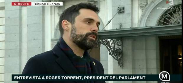 El presidente del Parlament, Roger Torrent