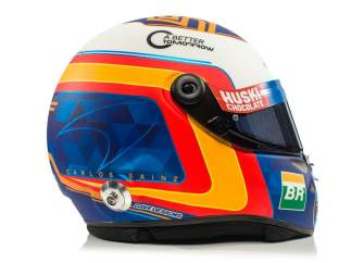 Casco de Carlos Sainz