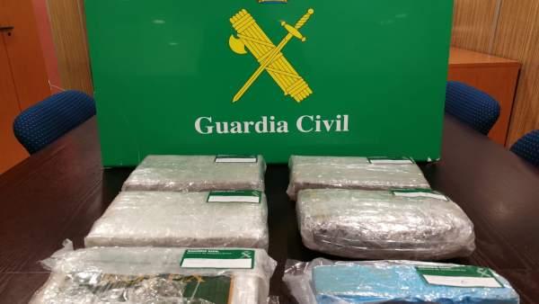 Droga intervenida en una operación de la Guardia Civil de A Coruña