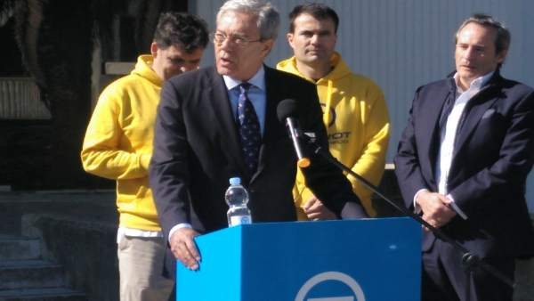 Rogelio Veslasco en un acto en Cádiz con Torrot