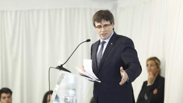 Carles Puigdemont en un acto en Madrid (foto de Archivo)