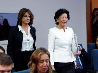 Celaá y Delgado, en el Consejo de Minisitros
