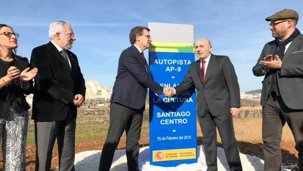 Inauguración del enlace de la AP-9 con la Cidade da Cultura